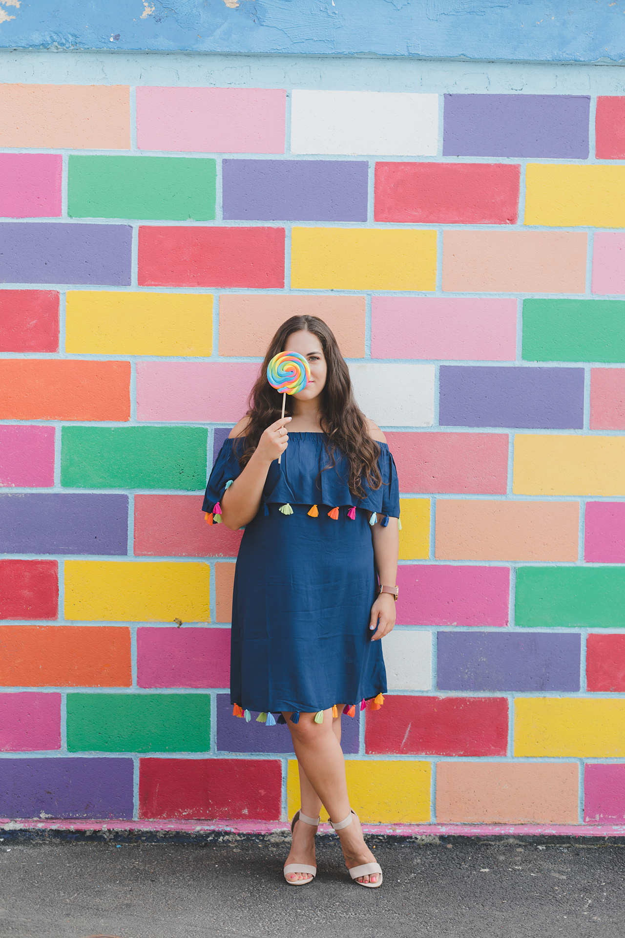 colorful tassel dress