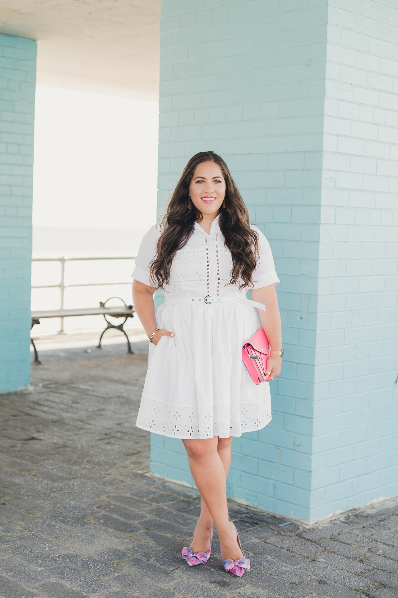 eshakti white shirtdress