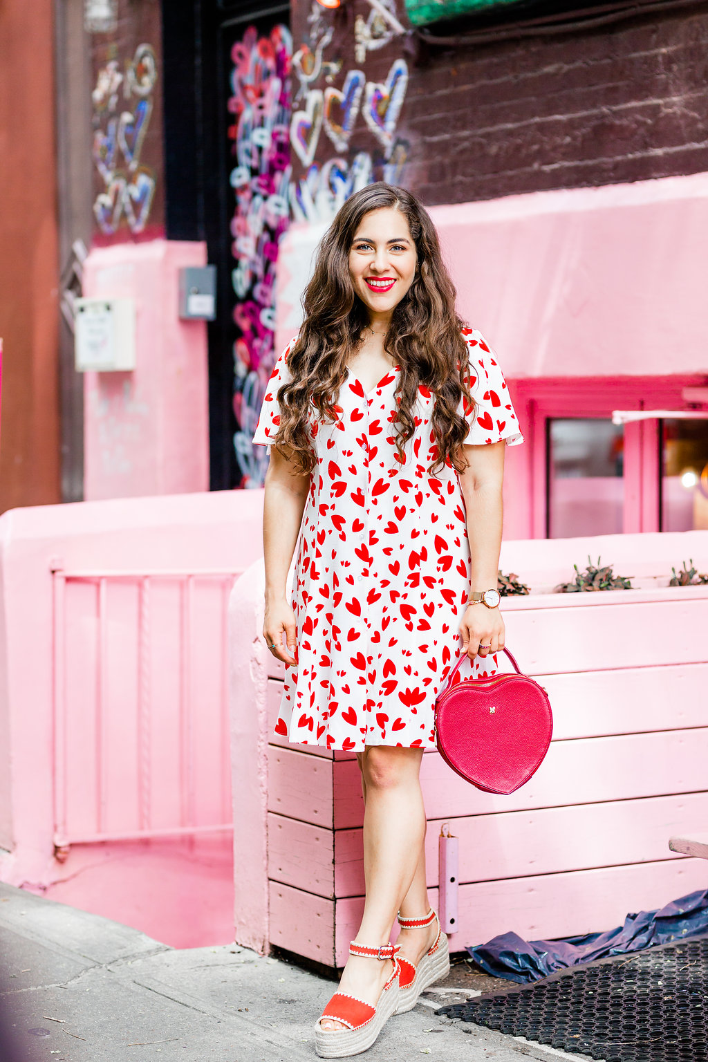 asos heart print dress