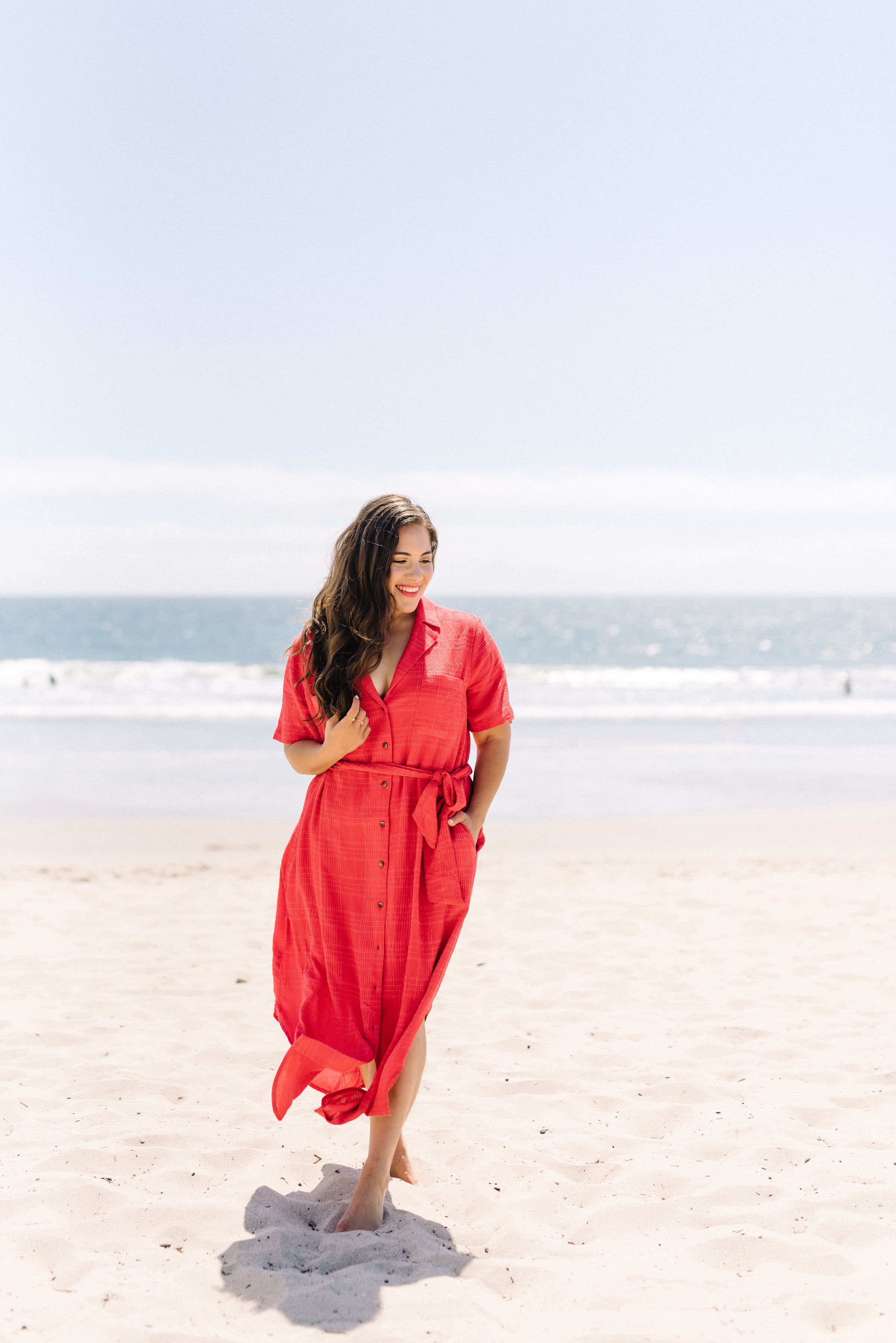 anthropologie red maxi dress