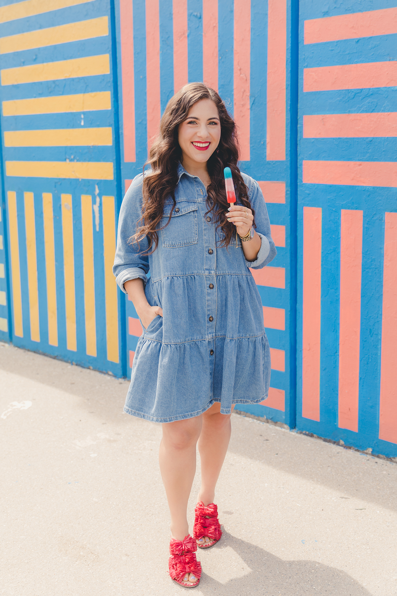free people nicole denim shirt dress