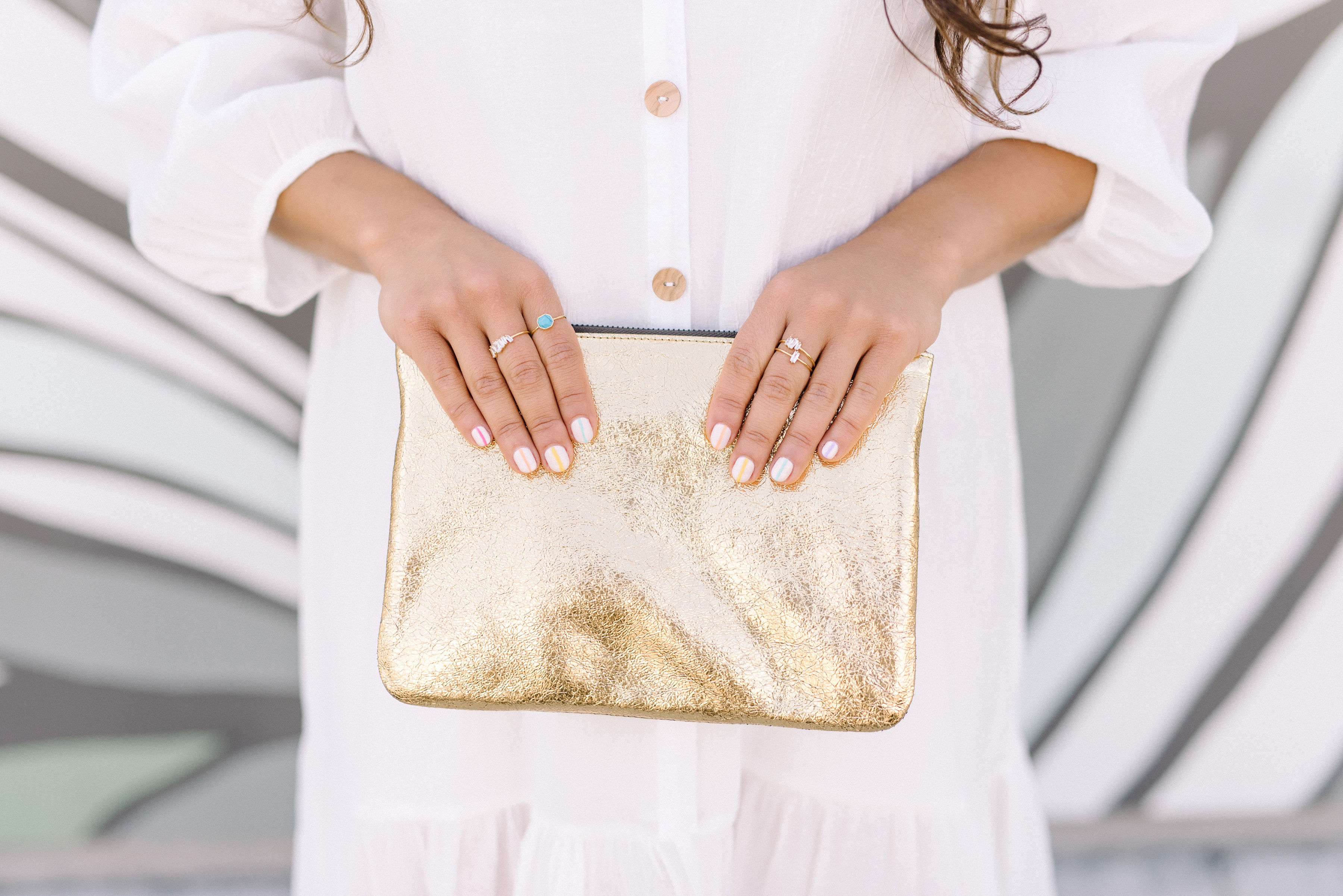 marc jacobs gold clutch